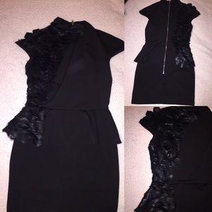 Black scale dress